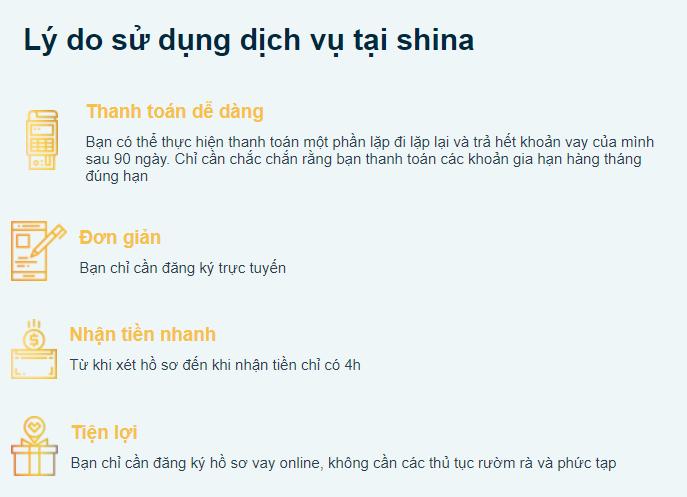 Lý do lên vay tại shina.vn
