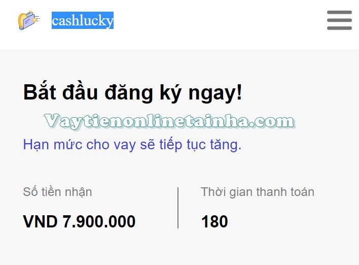 cashlucky vay tiền