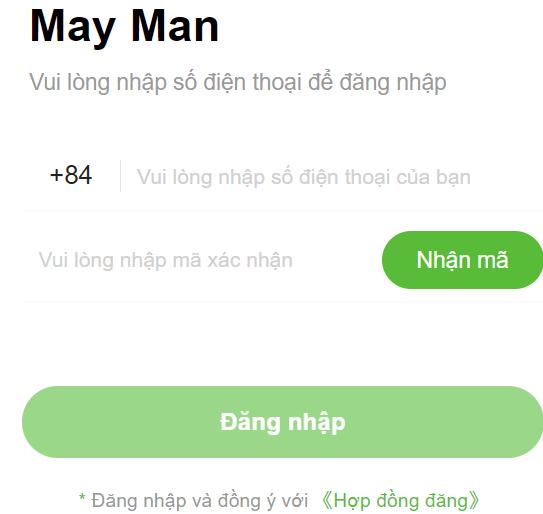 Trang vay tiền h5 mayman