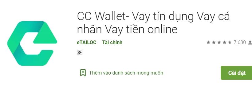 CC Wallet - Vay nhanh mà không cần nhiều thủ tục phức tạp